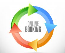 52756753 - online booking cycle sign concept illustration design graphic